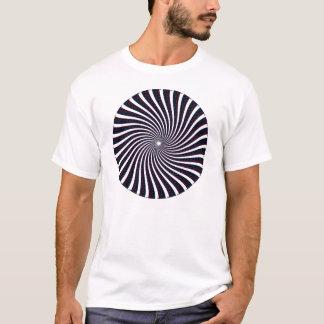 T-shirt Motif en spirale psychédélique : Art de vecteur :