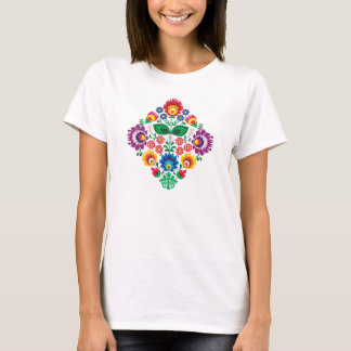 T-shirt Motif folklorique floral polonais traditionnel de