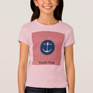T-shirt Motif rouge de club de yacht