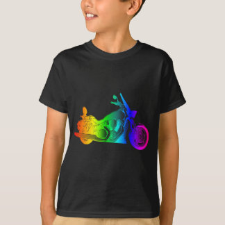 T-shirt Moto #2 d'arc-en-ciel