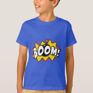 T-shirt Mots comiques d'action de super héros de boom