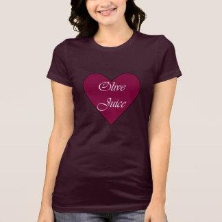 T-shirt Moyens olives de jus je t'aime