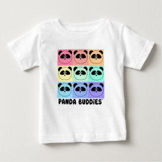 T-shirt multicolore d'amis de panda de bébé