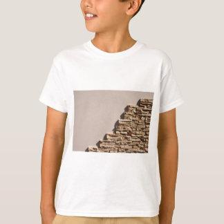 T-shirt Mur à la maison avec l'espace libre beige et