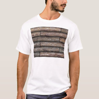 T-shirt Mur de cabine de rondin