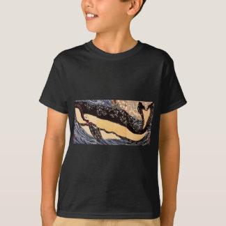 T-shirt Musashi sur le dos d'une baleine par Utagawa