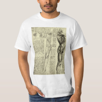 T-shirt Muscles masculins d'anatomie humaine par Leonardo