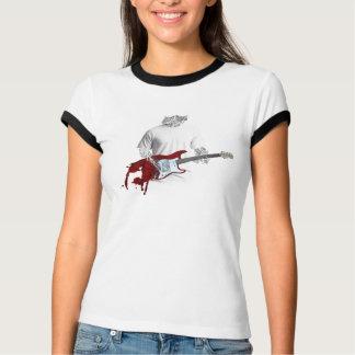 T-shirt Musicien abstrait jouant la guitare électrique de