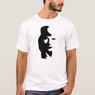 T-shirt musicien de jazz de visage de dame