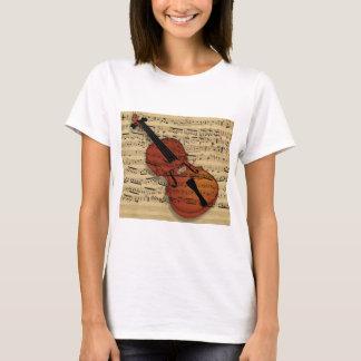 T-shirt Musique de cru de violon