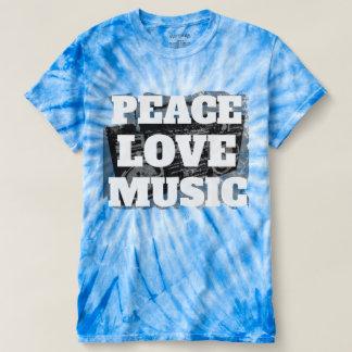 T-shirt Musique fraîche rétro Boombox affligé d'amour de