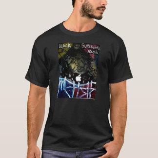 T-shirt Musique noire de super héros par OLAF