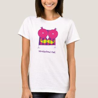 T-shirt Mustached personnalisé de hibou