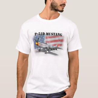 T-shirt Mustang de la deuxième guerre mondiale de P51D