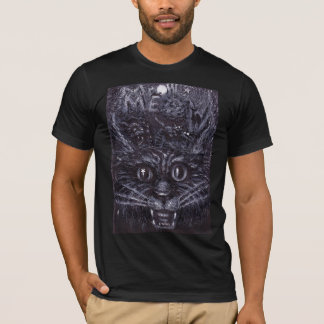 T-shirt Mutilation de Meow, art comique de chat par E J