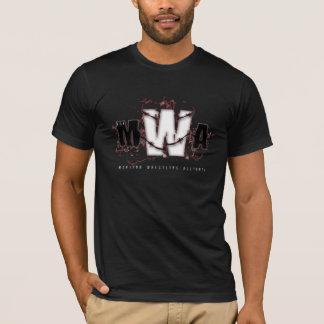 T-shirt MWA - Classique (rouge foncé sur le noir)