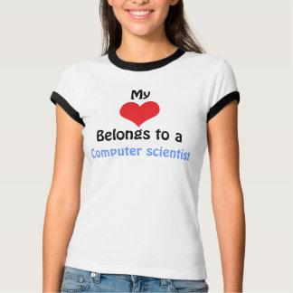 T-shirt My Heart Belongs to a ordinateur scientist