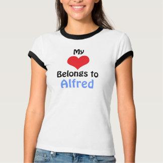 T-shirt My Heart Belongs to Alfred
