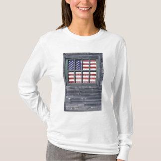 T-shirt Na, Etats-Unis, Maine, île de Georgetown. Drapeau
