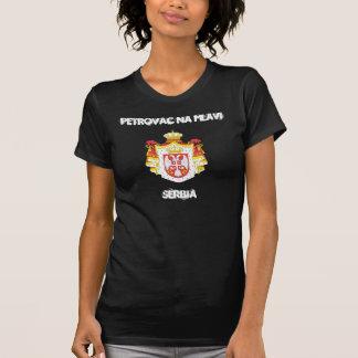 T-shirt Na Mlavi, Serbie de Petrovac avec le manteau des