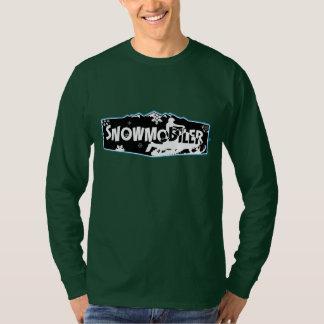 T-shirt nano de douille de Snowmobiler Hanes long