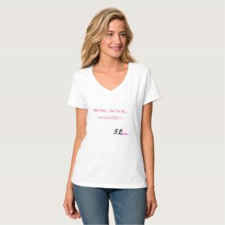 T-shirt nano de V-Cou de Hanes des femmes par