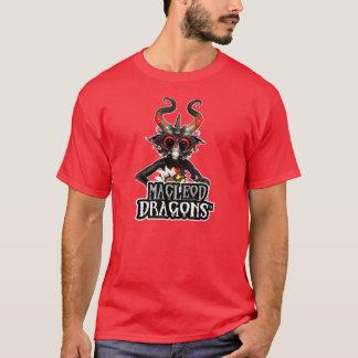 T-shirt Nano noir T de Hanes de dragon de DM, rouge-foncé
