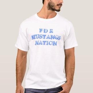 T-shirt Nation de mustangs de FDR - pièce en t
