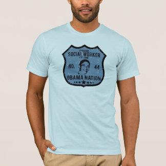 T-shirt Nation d'Obama d'assistant social