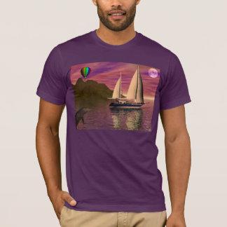 T-shirt Navigation dans le coucher du soleil