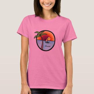 T-shirt Navigation hawaïenne de coucher du soleil