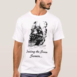 T-shirt Naviguant les sept serveurs…