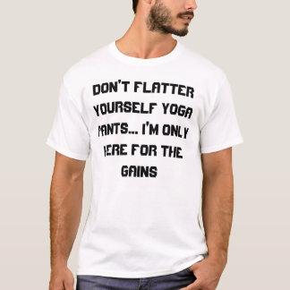 T-shirt ne vous flattez pas le pantalon GYM_HUMOR de yoga