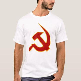 T-shirt Néo- marteau et faucille rouge foncé et jaunes
