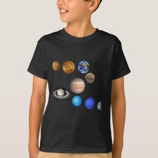 T-shirt Neuf planètes dans le système solaire