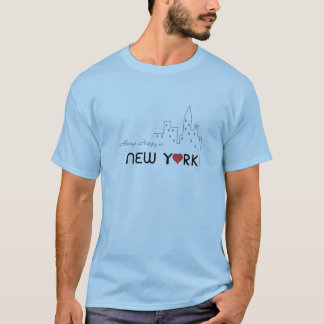 T-shirt New York, amour, coeur, cool