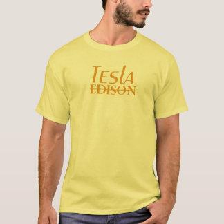 T-shirt Nikola Tesla contre Edison - orange