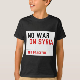 T-SHIRT NO-WAR-ON SYRIE
