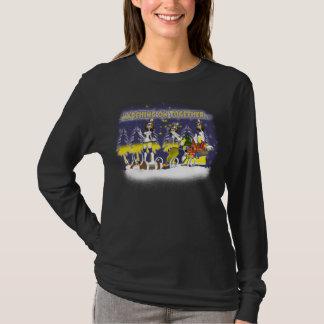 T-shirt Noël de fan de Leeds long Sleve T pour des femmes