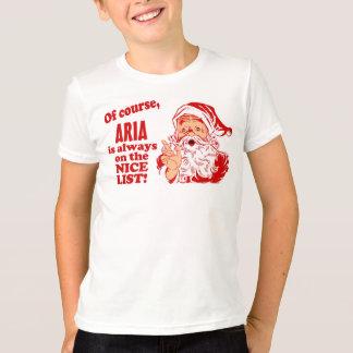 T-shirt Noël personnalisé d'aria