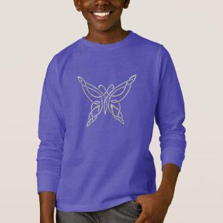 T-shirt Noeuds de bordage de papillon celtique pourpre