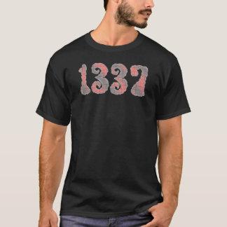 T-shirt noir 1337 rouge de ~