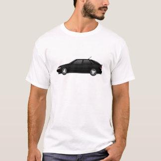 T-shirt noir 4door_talledega avec l'antenne de viggen