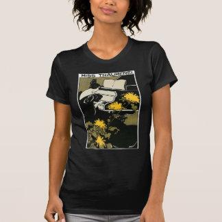 T-shirt Noir/blanc de twofer de Mlle Traümerei