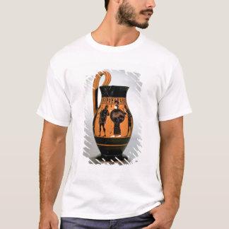 T-shirt Noir-chiffre olpe de grenier dépeignant Athéna
