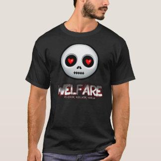 T-shirt noir d'assistance sociale