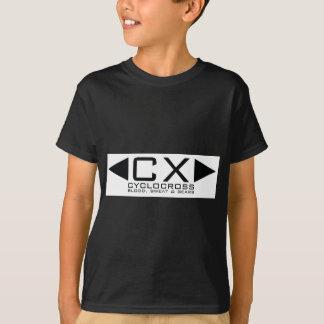 T-shirt Noir de base de la CX sur le blanc