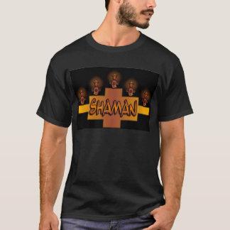 T-shirt noir de chaman