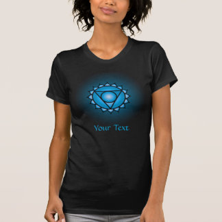 T-shirt noir de dames de Chakra de gorge petit