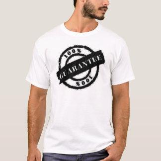 T-shirt noir de garantie de timbre